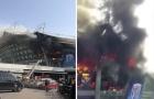 Cận cảnh sân nhà của Shanghai Shenhua bốc cháy dữ dội