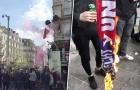 CĐV M.U làm loạn, đốt khăn trước giờ bóng lăn tại Bỉ