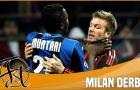 Những pha bóng căng thẳng trong các trận derby Milan