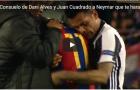 Cảm động hình ảnh Alves ôm Neymar đang khóc nức nở