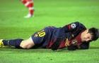 Messi và những lần bị 'chém' không thương tiếc trên sân