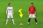 Sự khác biệt giữa Cristiano Ronaldo ở Real và M.U