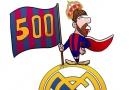 Biếm họa Messi mồm đầy máu, đứng cắm cờ ngạo nghễ trên đầu Real