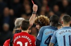Fellaini ăn thẻ đỏ, Man United suýt chấm dứt chuỗi trận bất bại tại Etihad
