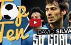 10 bàn thắng đẹp nhất của David Silva ở Ngoại hạng Anh