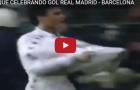 Luis Enrique khi còn thi đấu cho Real Madrid, ghi bàn vào lưới Barca