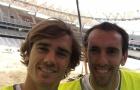 Torres, Griezmann mang đồ bảo hộ lao động đến thăm SVĐ mới Wanda Metropolitano