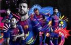 CHÍNH THỨC: Lộ diện mẫu áo đấu chất lừ của Barca mùa 2017/18
