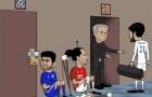 Biếm họa: Bị tống ra đường, Costa đồng cảm với Ibra