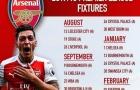 Lịch thi đấu của từng CLB Premier League mùa 2017/18 (Phần 1)