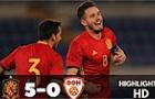 Highlights: U21 Tây Ban Nha 5-0 U21 Macedonia (Bảng B U21 Châu Âu)