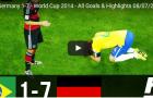 Trận cầu kinh điển: Brazil 1-7 Đức (WC 2014)