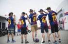 Mặc áo Barcelona, sao MotoGP 'quậy nát' đường phố Hà Lan