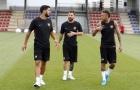 MSN góp mặt trên sân tập, Barca sẵn sàng cho chuyến du đấu