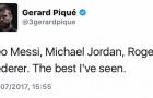Pique bị fan của Ronaldo 'khủng bố' vì chúc mừng... Federer