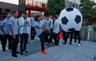Dàn sao Real Madrid thoải mái vui đùa trước trận gặp Man Utd