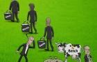 Biếm họa: Perez mải đếm tiền bán sữa 'bò dự bị'