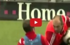 Philipp Lahm và Arjen Robben từng đánh nhau trên sân tập
