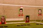 Pogba, Mata, Rashford và Smalling trổ tài sút phạt