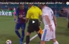 Pha xô xát giữa Neymar và Carvajal trong trận Siêu kinh điển