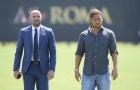 Totti oai vệ xuất hiện trên sân tập Roma