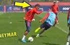 Neymar lại diễn xiếc trên sân tập của PSG