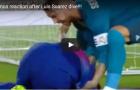 Hành động buồn cười của Ramos khi Suarez ăn vạ