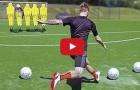 Tập luyện đá phạt cùng Marco Reus