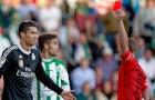 Từ khi đến Real Madrid, Ronaldo đã nhận bao nhiêu thẻ đỏ?