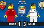 Chiến thắng 3-1 của Inter trước Roma theo phong cách Lego
