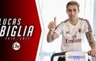 Lucas Biglia, người trấn giữ tuyến giữa mới của AC Milan