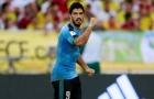 Tình huống va chạm dẫn đến Suarez phải rời sân trước Argentina
