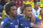 Cú sút trái phá của Willian vào lưới Colombia