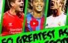 50 pha kiến tạo mãn nhãn nhất lịch sử bóng đá