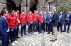 Dàn sao U20 Anh vinh dự diện kiến hoàng tử William