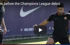 Các sao Barca hớn hở tập luyện sau trận thắng đậm