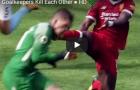 Những pha va chạm kinh khủng với thủ môn