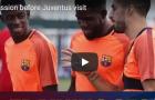 Dembele hớn hở trước đại chiến Juventus