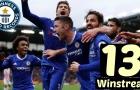 Kỷ lục 13 chiến thắng liên tiếp của Chelsea mùa trước