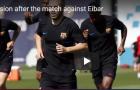 Barca tập nhẹ sau trận thắng Eibar