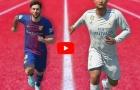 Cristiano Ronaldo đua tốc độ với Lionel Messi trong FIFA 18