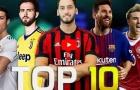 Top 10 cầu thủ sút phạt tốt nhất mùa 2017/18