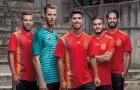 Cận cảnh mẫu áo đấu đang bị chỉ trích của tuyển Tây Ban Nha