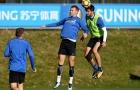 Dàn sao Inter chăm chỉ luyện 'không chiến' trước cuộc đấu với Atalanta