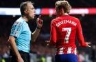Antoine Griezmann mất tích trước hàng thủ Real Madrid