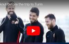 Dàn sao Barca rạng rỡ trên sân tập trước đại chiến Juventus
