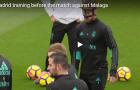 Toàn cảnh buổi tập của Real trước trận đấu với Malaga