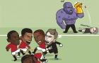 Biếm họa: 'Thánh bóp' Lukaku no đòn sau khi giúp Guardiola bán hành cho Mourinho