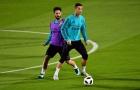 Tập luyện vui vẻ, Ronaldo và các đồng đội đã sẵn sàng vô địch thế giới