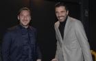 Totti hội ngộ 'người bạn già' trong ngày được vinh danh huyền thoại